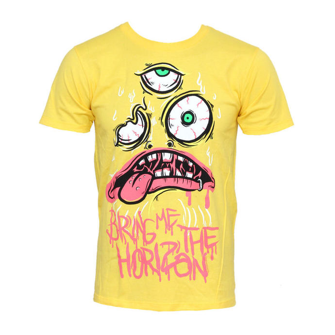 t-shirt metal men's Bring Me The Horizon - KK Yellow - BRAVADO