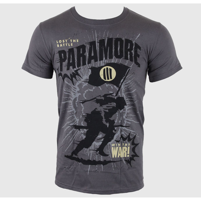 t-shirt metal men's Paramore - Minifield Charcoal - LIVE NATION