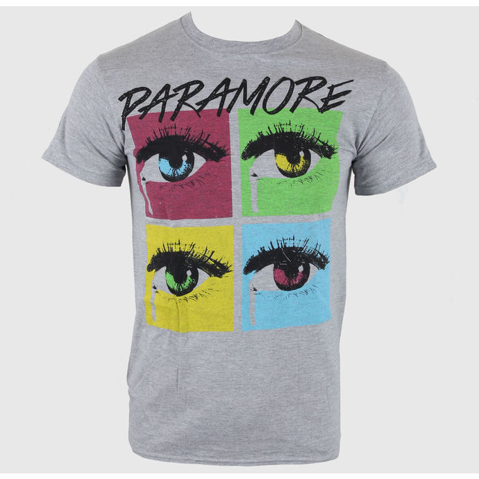 t-shirt metal men's Paramore - Pop Tear Sports Grey - LIVE NATION