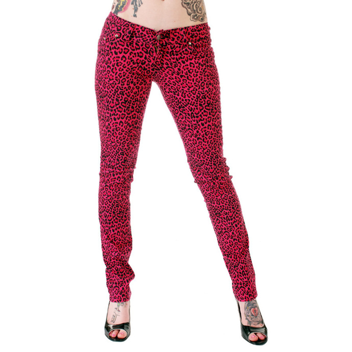 pants women 3RDAND56th - Print Skinnies - Pink