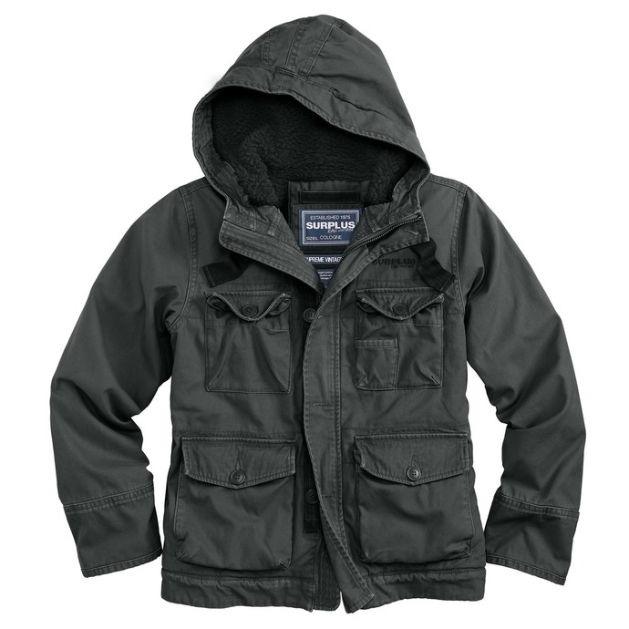 jacket men winter SURPLUS - Supreme Vintage Hydro - Black