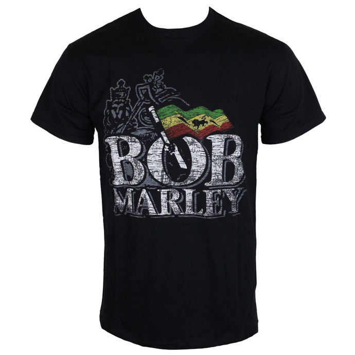 t-shirt metal men's Bob Marley - Distressed Logo - BRAVADO EU