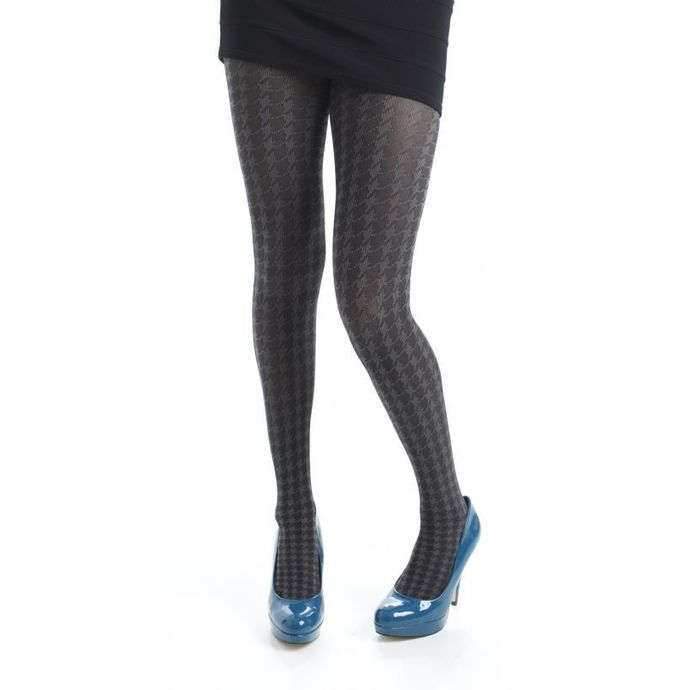 tights PAMELA MANN - Opaque Dogtooth Tights - Grey