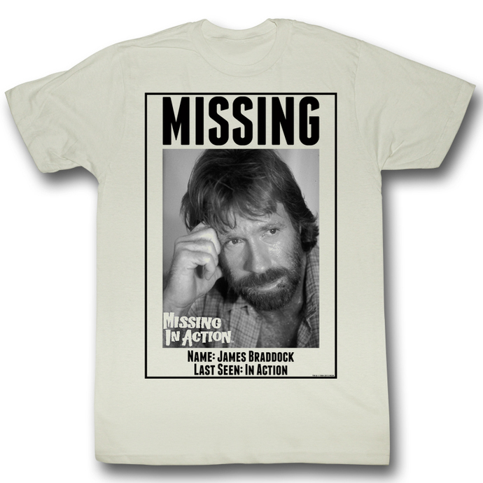 film t-shirt men's Mission in Action - Missing - AMERICAN CLASSICS