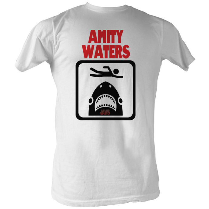film t-shirt men's JAWS - Amity Waters - AMERICAN CLASSICS