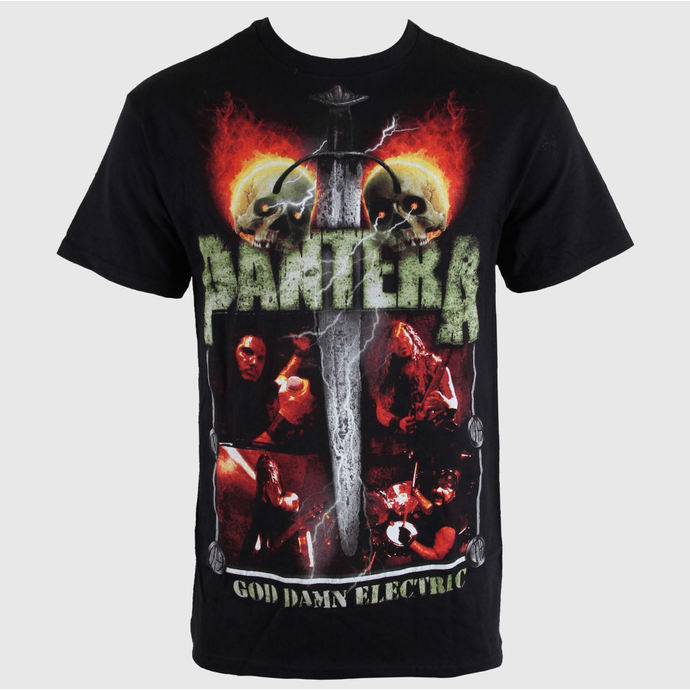 t-shirt metal men's Pantera - Lightning Skulls - BRAVADO