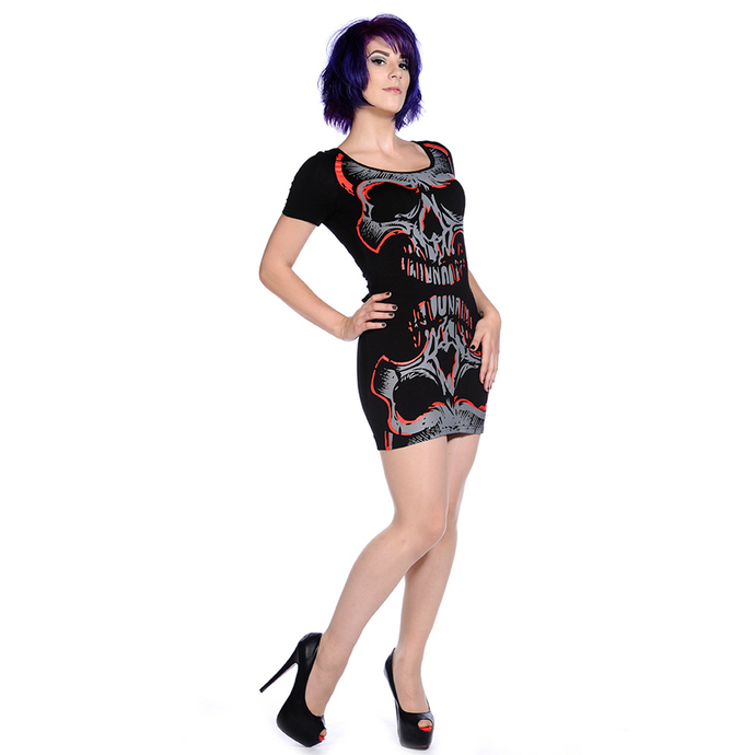 dress women (tunic) BANNED - Red Mirror Skull
