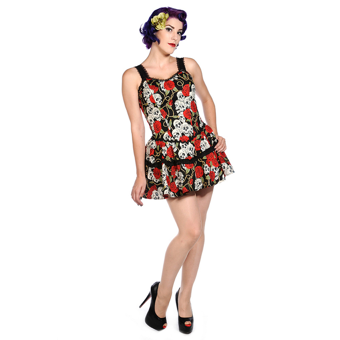 dress women BANNED - Skull Roses