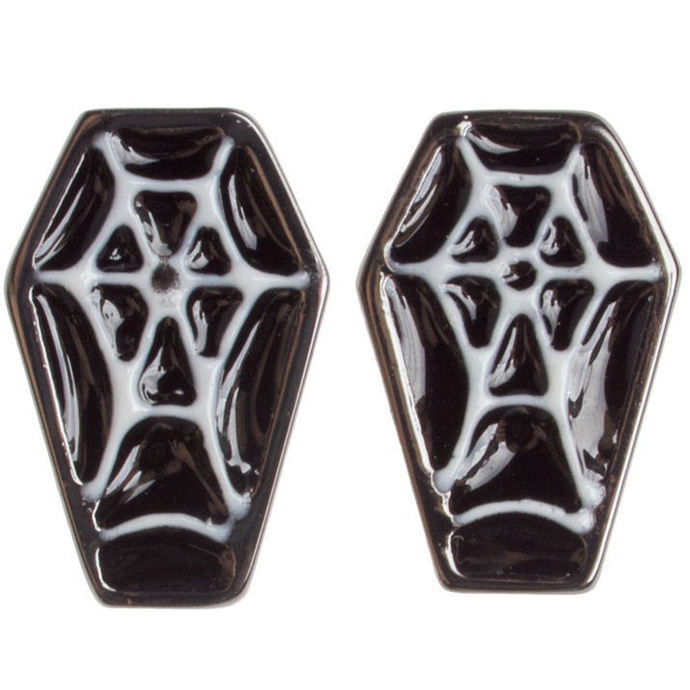earrings SOURPUSS - Coffin - Black / White