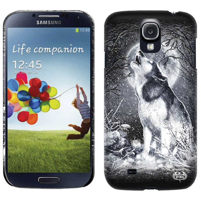 cover to cell phone SPIRAL - WHITE WOLF - SAMSUNG