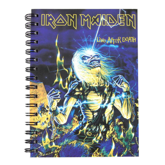 writing notepad Iron Maiden