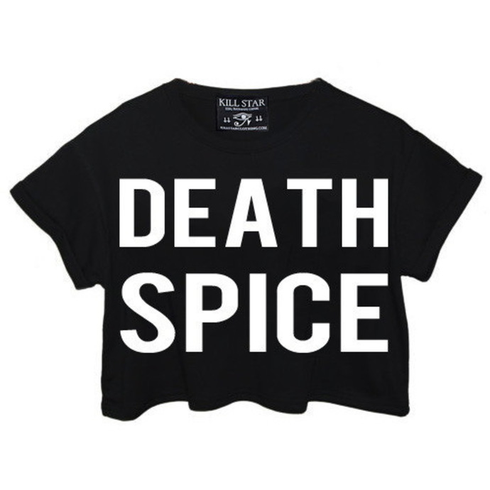 t-shirt women's - Death Spice Crop - KILLSTAR