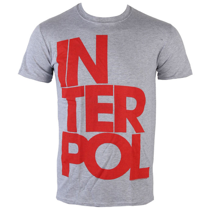 t-shirt metal men's Interpol - Stacked Logo - PLASTIC HEAD