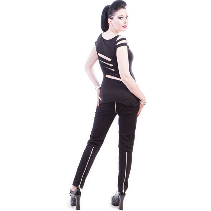 pants women NECESSARY EVIL - Ghotic - Black