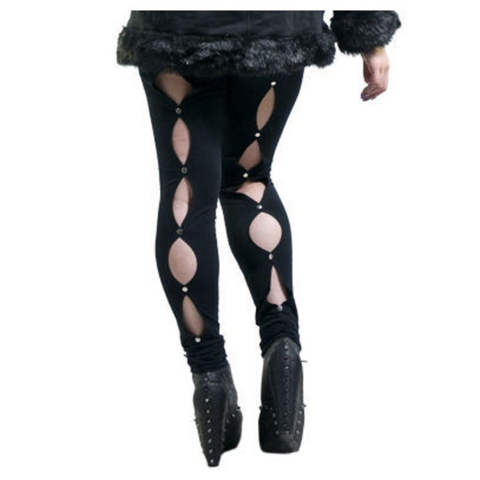 pants women (leggings) NECESSARY EVIL - Circe - Black