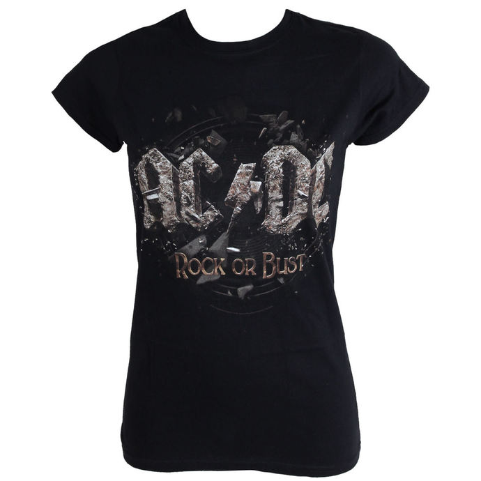 t-shirt metal women's AC-DC - Rock Or Bust - LIVE NATION