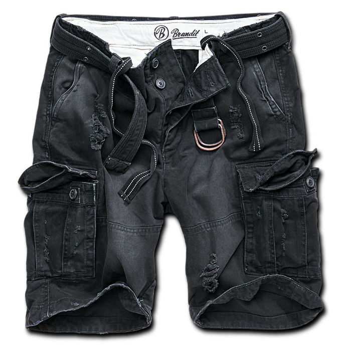 shorts men BRANDIT - Shell Valley Heavy Vintage - Black