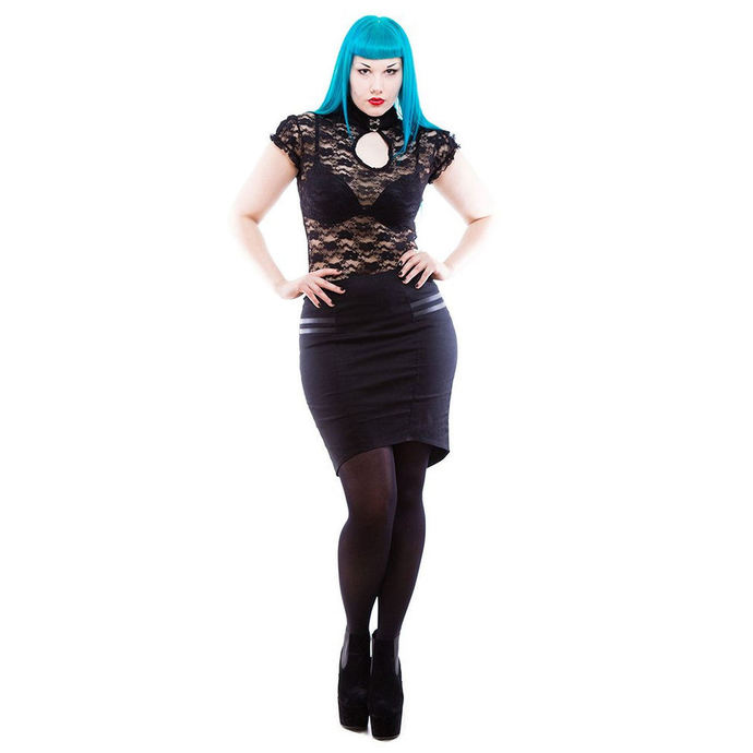 skirt women's NECESSARY EVIL - Gothic Corra - Black