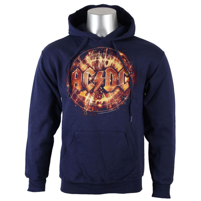 hoodie men's AC-DC - Navy Electric Explosion Logo - LIVE NATION