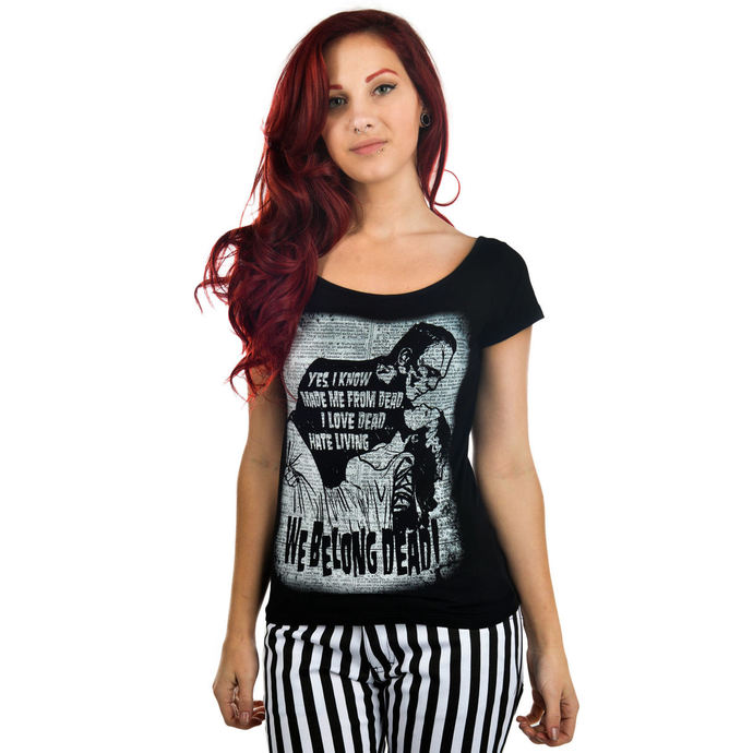 t-shirt gothic and punk women's - We Belong Dead - TOO FAST
