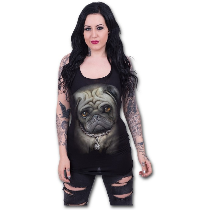 top women SPIRAL - Pug Life - Black