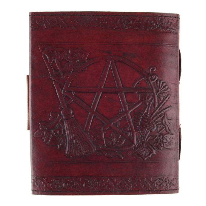 writing notepad Pentagram Leather Emboss Journal