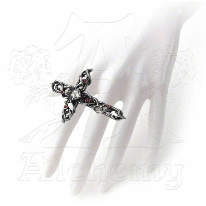 ring ALCHEMY GOTHIC - Thorny Cross Handspan
