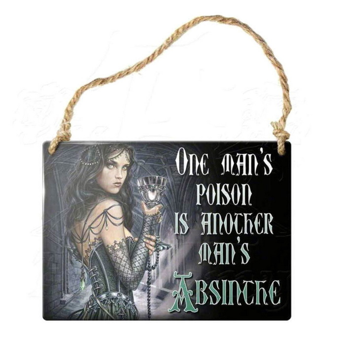 hanging plaque ALCHEMY GOTHIC - One Mans Poison