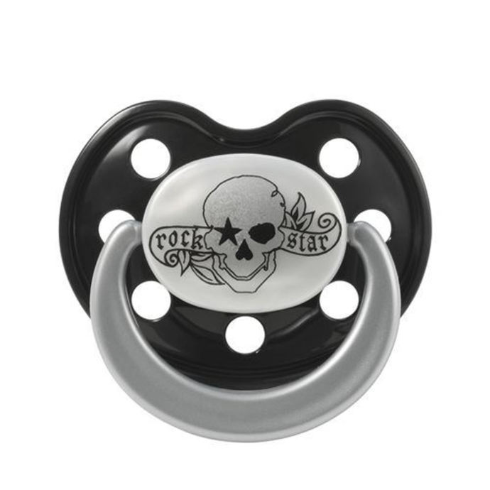 pacifier silicone ROCK STAR BABY -  Tatoo Pirate