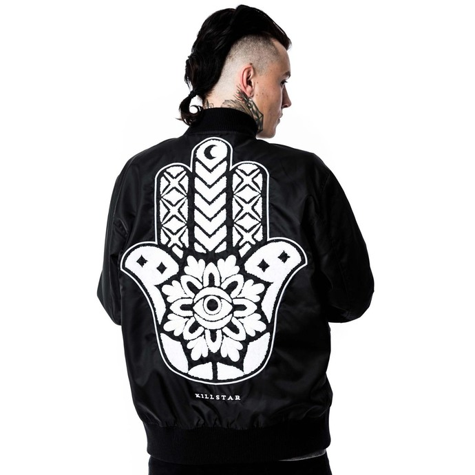 jacket (unisex) bomber KILLSTAR - Hamsa - Black