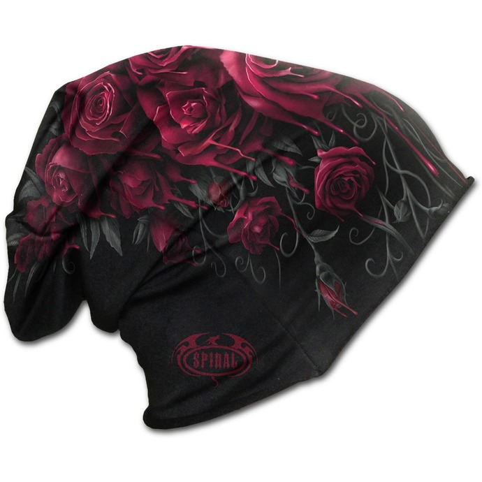 beanie SPIRAL - Blood Rose