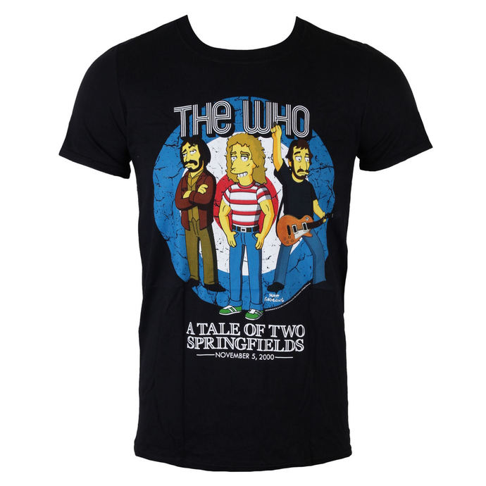t-shirt metal men's Who - The Who Bullseye (Simpsons) - LIVE NATION