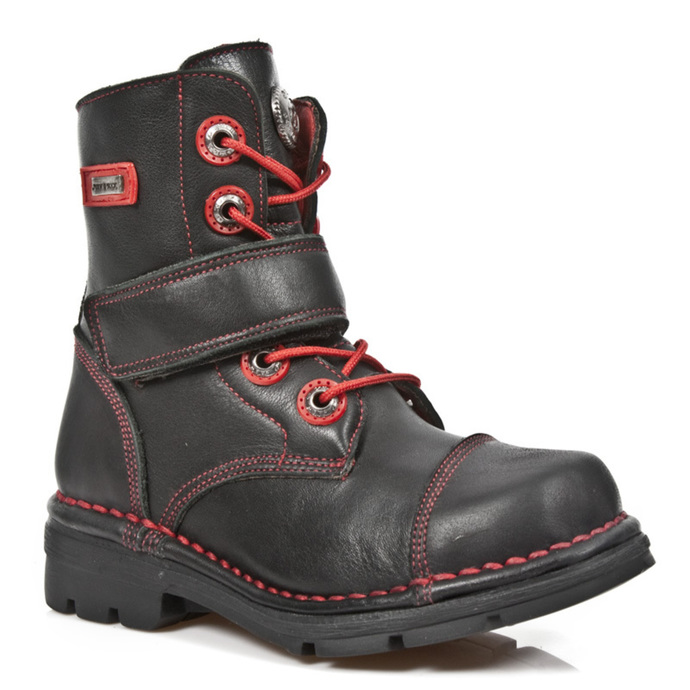 leather boots children's - ROADSTAR FOAMIZADO NEGRO - NEW ROCK