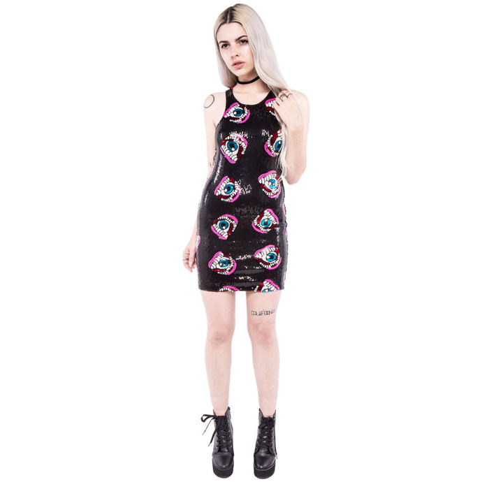 dress women IRON FIST - Eye'll Eat You Sequin - Black