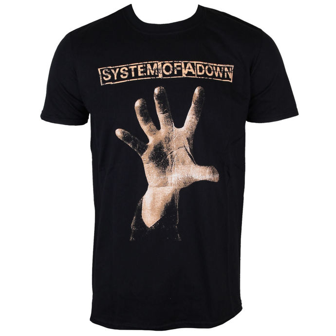 t-shirt metal men's System of a Down - Hand - ROCK OFF