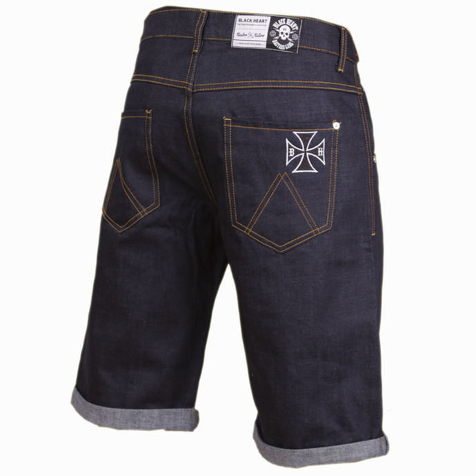 shorts men BLACK HEART - Cross - Denim