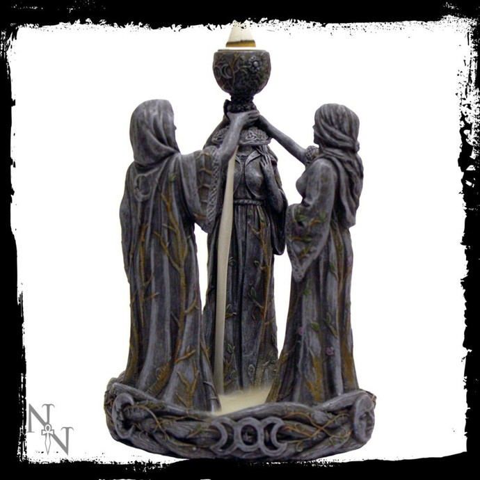 decoration (candlestick) Mother Maiden & Crone Backflow - NENOW