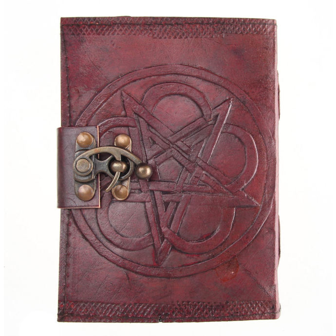 writing notepad Pentagram Leather Embossed Journal & Lock - NENOW