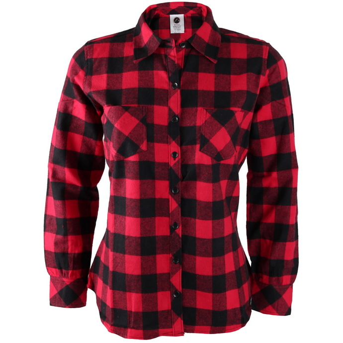 shirt women's ROTHCO - PLAID - RED
