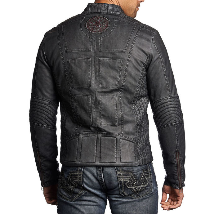 men jacket spring/fall AFFLICTION - Two Pistons - BK