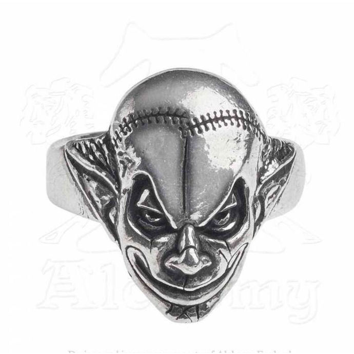 ring ALCHEMY GOTHIC - M era Luna Evil Clown