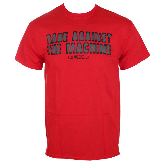 t-shirt metal men's Rage against the machine - Smashed Red -