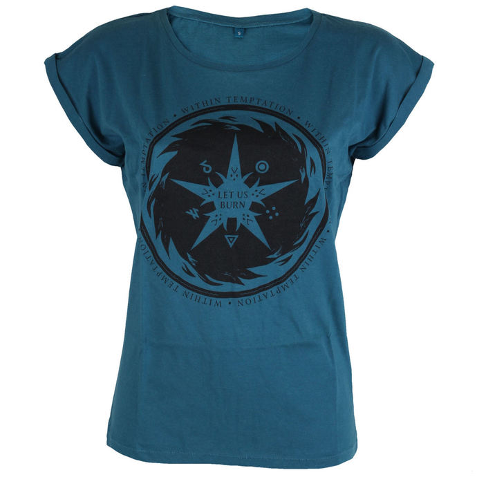 t-shirt metal women's Within Temptation - Burn Star Teal -