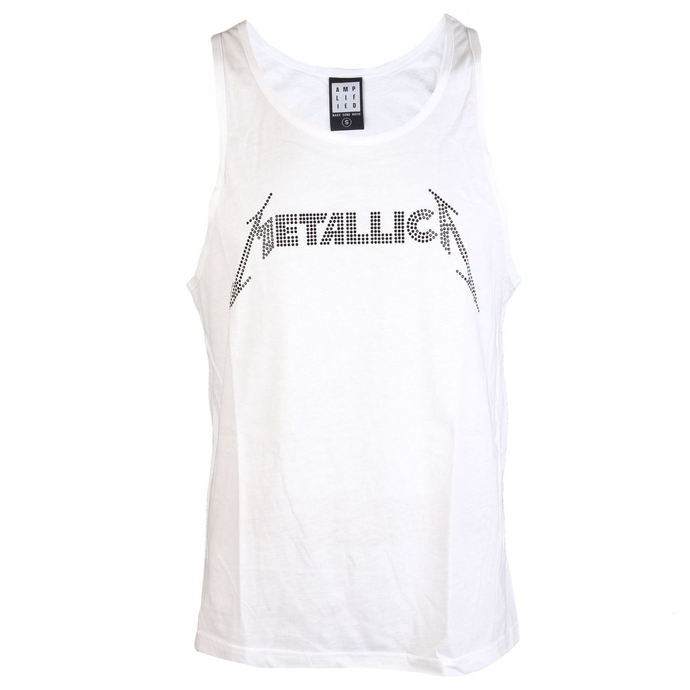 top men METALLICA - LOGO WHITE - AMPLIFIED