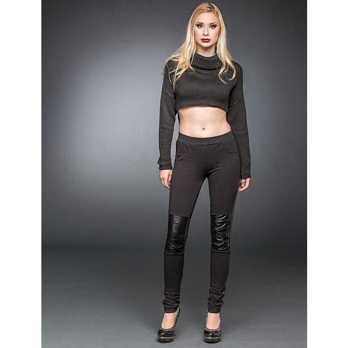 pants women (leggings) QUEEN OF DARKNESS - Black