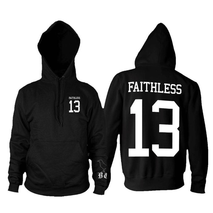hoodie men's - Faithless 13 - BLACK CRAFT