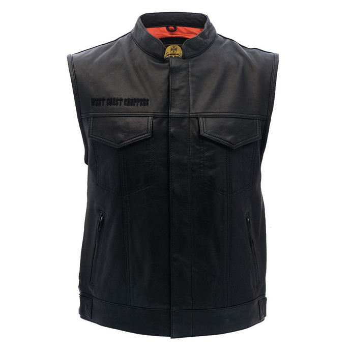 vest - OG CROSS LEATHER RIDING - West Coast Choppers