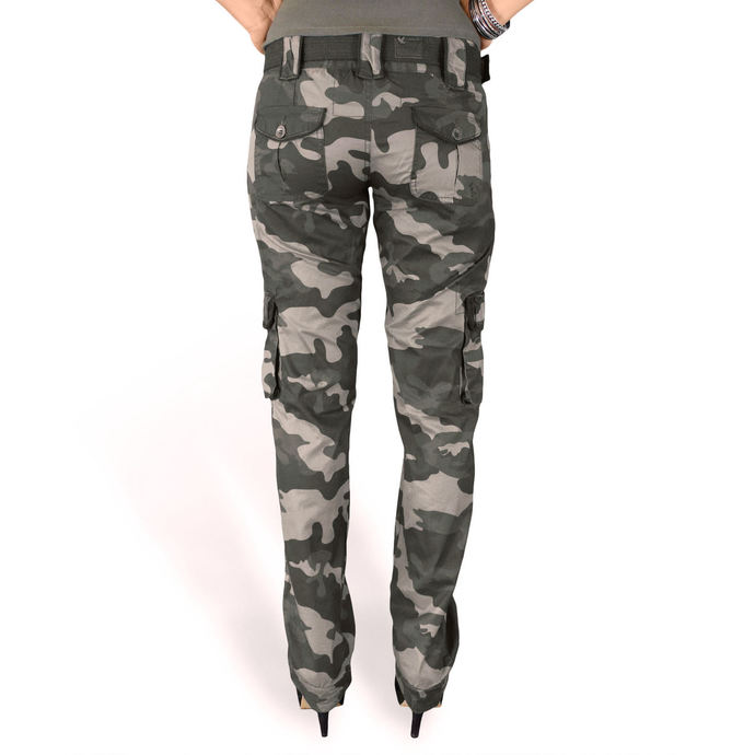 Pants women's SURPLUS - PREMIUM SLIMMY - BLACK CAMO