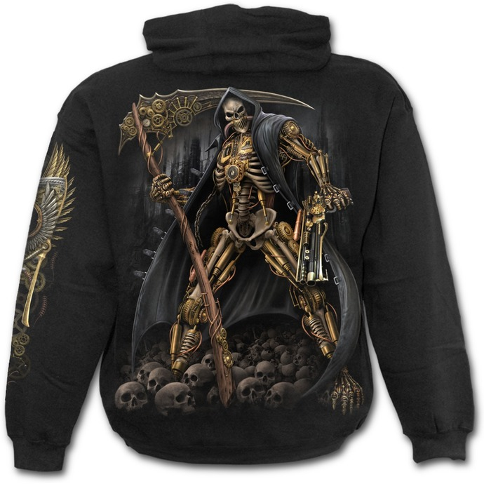 hoodie men's - STEAMPUNK SKELETON - SPIRAL
