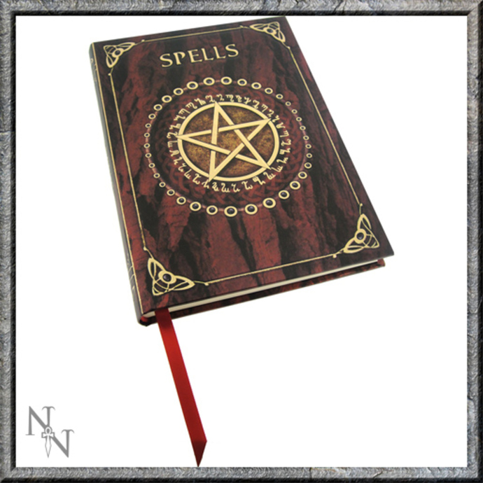 writing notepad Embossed Spell - Red